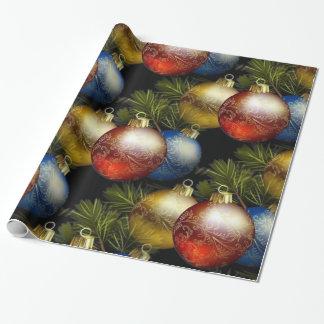 Papel De Regalo Bolas hermosas del navidad con diseño delicado