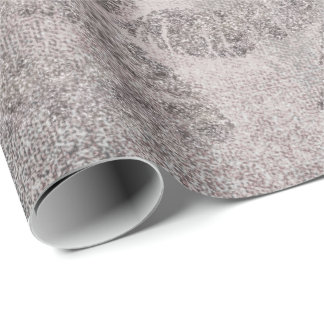 Papel De Regalo Brillo de plata gris del grafito del oro color de
