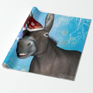Papel De Regalo Burro divertido del navidad