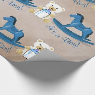 Papel De Regalo ¡Caballo mecedora azul es UN MUCHACHO!