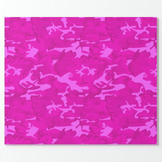 Papel De Regalo Camo rosado