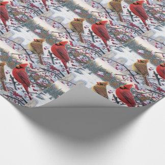 Papel de regalo/cardenales del navidad