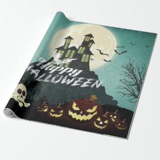 Papel De Regalo Cielo nocturno fantasmagórico Halloween del traje