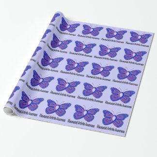 Papel De Regalo Cinta de la conciencia de la mariposa de la