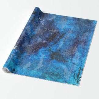 Papel De Regalo Cosmos azul #1