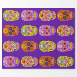Papel De Regalo Cráneos de la flor