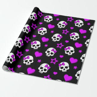 Papel De Regalo Cráneos púrpuras violetas del punk rock