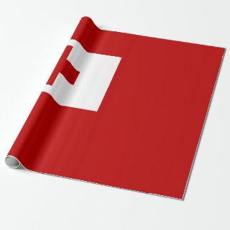 Papel De Regalo Cruz Roja de la bandera de la isla de Tonga