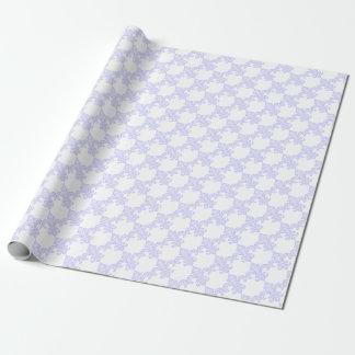 Papel de regalo de la flor de lis de la lavanda