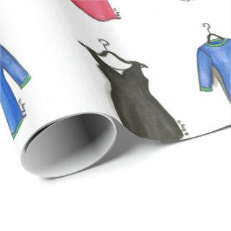 Papel de regalo de la moda de los vestidos de
