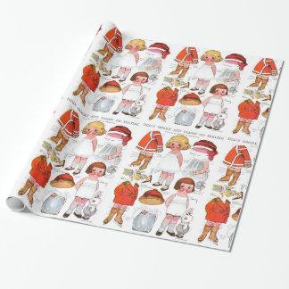Papel de regalo de papel de las muñecas del
