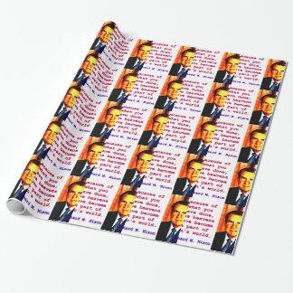 Papel De Regalo Debido a lo que usted ha hecho - Richard Nixon