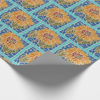 Papel de regalo del mosaico de la teja del girasol