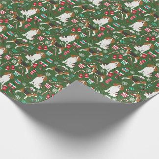 Papel de regalo del navidad de los beagles