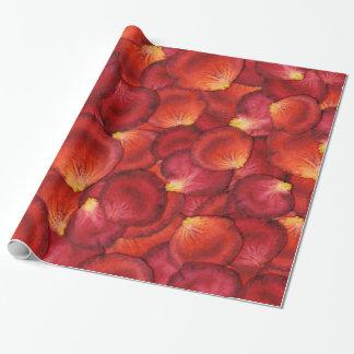 Papel de regalo del pétalo color de rosa