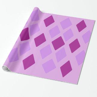 Papel De Regalo Diamantes violetas de la berenjena del heliótropo