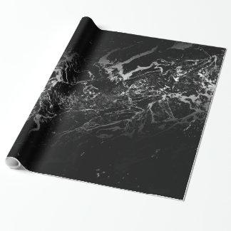 Papel De Regalo diseño abstracto de mármol negro