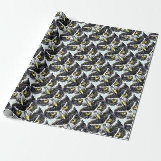 Papel De Regalo diseño del búho del fractal