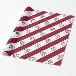 Papel De Regalo Diseño rojo y blanco del regalo del feliz