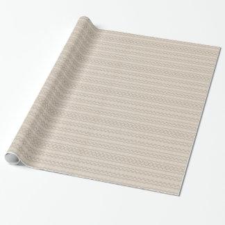 Papel De Regalo Diseño tribal del modelo de zigzag de la pluma