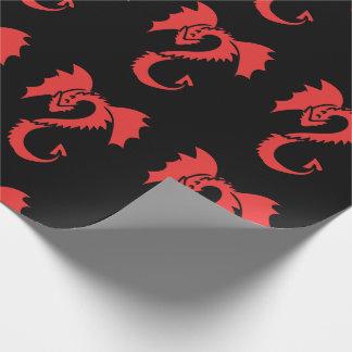 Papel De Regalo Dragón rojo