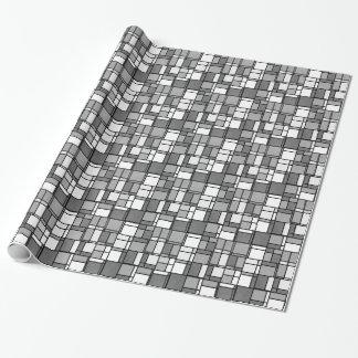 Papel De Regalo El blanco gris múltiple Mondrian inspiró el modelo