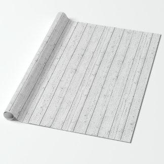 Papel De Regalo El granero blanco lamentable de madera rústico