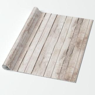 Papel De Regalo El granero de madera rústico sube al boda del