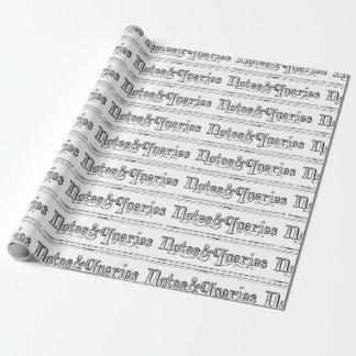 Papel De Regalo El vintage observa y pregunta Typograph