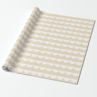 Papel De Regalo El &White beige suave de la media luna raya el
