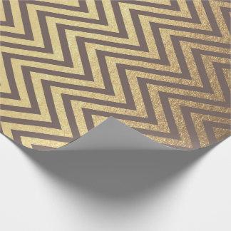 Papel De Regalo El zigzag raya la línea de Chevron del chocolate