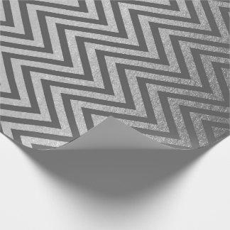 Papel De Regalo El zigzag raya la línea de Chevron del grafito de