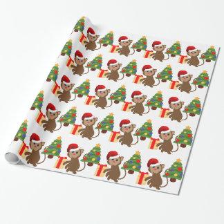 Papel De Regalo emoji del mono de Papá Noel
