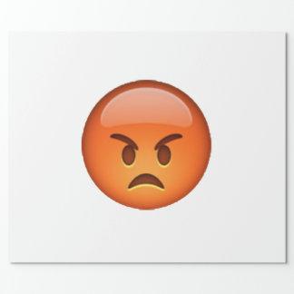 Papel De Regalo Emoji - enojado