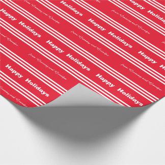 Papel De Regalo Envoltorio para regalos del navidad del bastón de