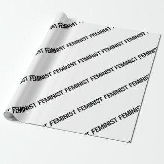 Papel De Regalo Envoltorio para regalos feminista