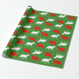 Papel De Regalo Envoltura del navidad que ofrece el mousedeer