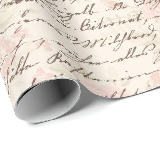 Papel De Regalo Escritura del vintage