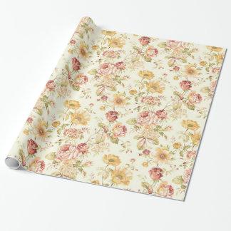 Papel De Regalo Estampado de flores elegante