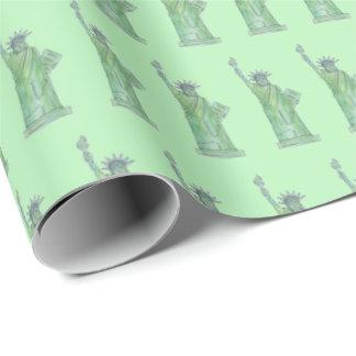 Papel De Regalo Estatua verde de New York City NYC de la señora de