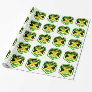 Papel De Regalo Estilo jamaicano del escudo de la bandera