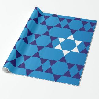 Papel De Regalo Estrellas judías azules gigantes