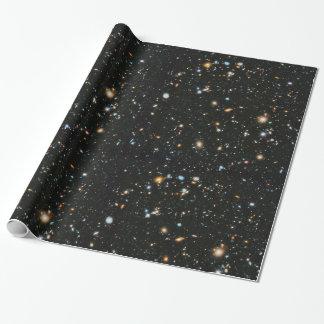 Papel De Regalo Estrellas y galaxias del espacio profundo