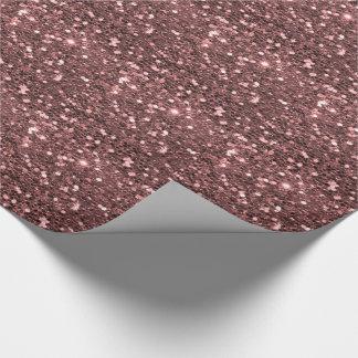 Papel De Regalo Falsa impresión del brillo del oro color de rosa