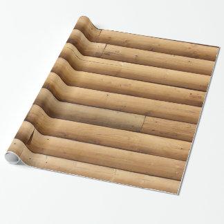 Papel De Regalo Falso apartadero de la cabaña de madera