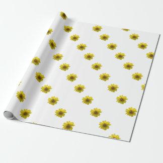Papel De Regalo Flor amarilla