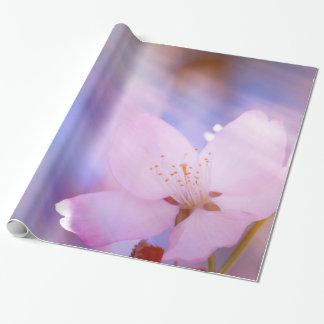 Papel De Regalo Flor de cerezo rosada