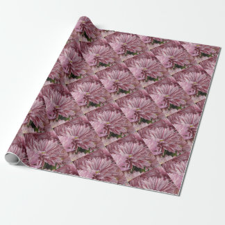 Papel De Regalo Flor rayada rosada
