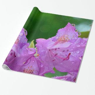 Papel De Regalo Flor violeta
