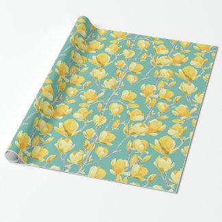 Papel De Regalo Floración amarilla III de la primavera de la